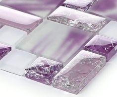 Image result for purple glass mosaic tile backsplash