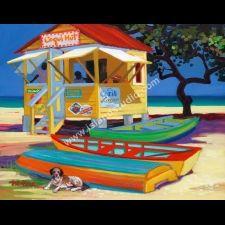 Coqui Hut by artist Shari Erickson