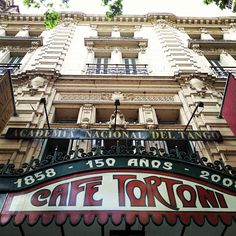 Gran Café Tortoni- famous cafe/ salon great place for a traditional argentine breakfast : fresh squeezed OJ, cafe con leche, and media ulnas