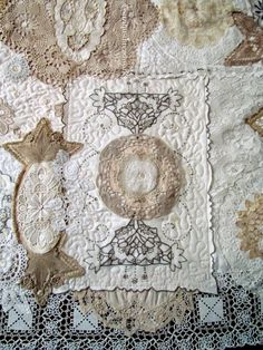 Suziqu's Threadworks: Doily and Lace Quilt Now Completed