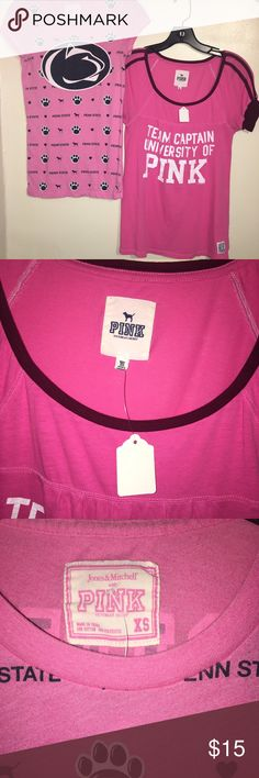 2-PINK T's Lot of 2 T's will not separate PINK Victoria's Secret Tops Tees - Short Sleeve