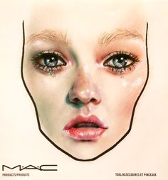 MAC face chart by Amalia Bot Mac Face Charts, Fx Makeup, Makeup Forever, Mac Cosmetics, Hair Beauty, Make Up, Photo And Video, Creative, Instagram Posts
