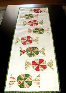 Candy Carousel quilted table runner pattern.