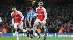 Gabriel puts the #Arsenal on the board. #AFCvAFCB