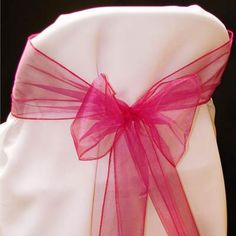 Organza Sash Chair Bows 0106A-fb various colors avail. $5.99 6 per pack 8 ft 11 inches