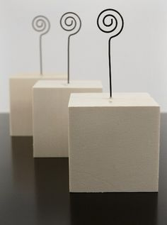modern place card holders - Google Search