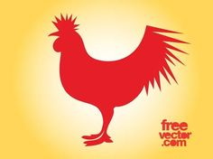 Rooster Free Vector Rooster Silhouette, Silhouette Clip Art, Animal Silhouette, Rooster Vector, Vector Free Download, Zoo Animals, Sea Creatures, Vector Graphics, Art Images
