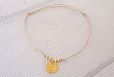 """Freundschaftsbänder - Armband """"Initial"""" Buchstabe Silber vergoldet - ein Designerstück von Zartglitter bei DaWanda"""