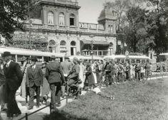 Mei 1940. Tijdens de mobilisatie, vanaf 11 april 1939, was in het paviljoen het hoofdkwartier van de Luchtverdedigings Kring Amsterdam gevestigd.