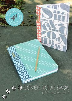 Does your little one have the back to school blues? Give their composition books a face-lift and send them to the head of the class; our next free pattern in our Sewing Together Series is the Book Cover your Back (to school) Notebook Cover. With handy pencil slots on the...