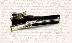 Antique Silver Winchester Rifle Tie Clip by EdwardianRenaissance, $18.00