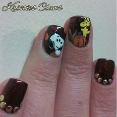 Peanuts, snoopy and woodstock nails #kristiesclaws