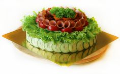 Smörgåstårta or cake sandwich - inspiration pic Sandwhich Cake, Sandwich Torte, Appetizer Buffet, Salty Cake, Swedish Recipes, Tea Sandwiches, Food Platters, Food Decoration, Snacks