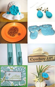Turquoise with a Dash of Sass -- by FrogBlossoms.etsy.com