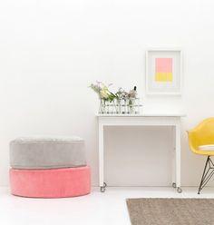 Rachel Castle and things new round velvet floor cushions