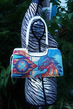 Hand Painted Purse By  Rez Hoofz   One Of A Kind ready by REZHOOFZ, $89.95