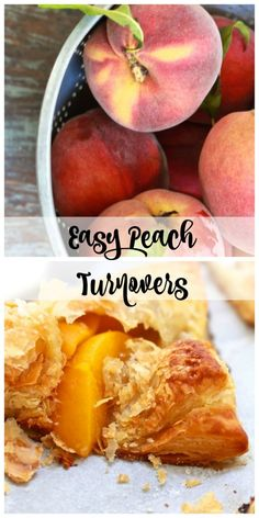 Easy Peach Turnovers - 2 Bees in a Pod