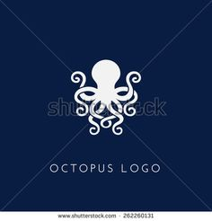 Template for logos, labels and emblems with white silhouette of octopus. Octopus Images, Octopus Art, Octopus Tattoo Design, Octopus Tattoos, Graphic Design Typography, Logo Design, Logo Animal, Logos, Logo Shapes