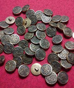 boutons de métal - 50 % Metal Buttons, Boutique, Etsy, Couture, Personalized Items, Unique Jewelry, Buttons, Haute Couture, Boutiques