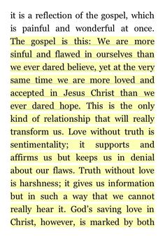 Timothy Keller meaning of marriage fantastic!!