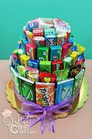 I think chewing gum is the best thing invented in the world. Wilkinson thinks … Candy Birthday Cakes, Candy Cakes, Birthday Gifts, Gift Bouquet, Candy Bouquet, Lollipop Bouquet, Boquet, Candy Arrangements, Raffle Baskets