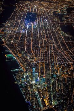 #NYC lights up at night