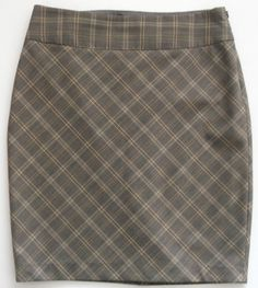 The Limited Brown/Yellow Plaid Skirt-Womens-Sz 4     EXCELLENT! #TheLimited #StraightPencil
