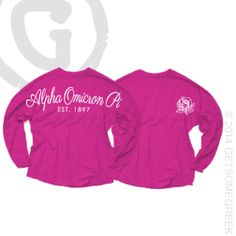 ALPHA OMICRON PI SCRIPT COASTAL JERSEYS! ONLY AT GETSOMEGREEK! AOPI! AOII! EST. 1897