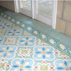 Love these encaustic tiles