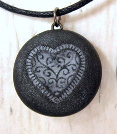 Polymer Clay Necklace Jewelry Pendant by neiceysclaythings on Etsy, $8.50