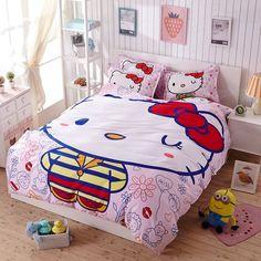Hello kitty 4pcs 16 Variants Beding Set Include Duvet Cover Bed Sheet Pillowcase