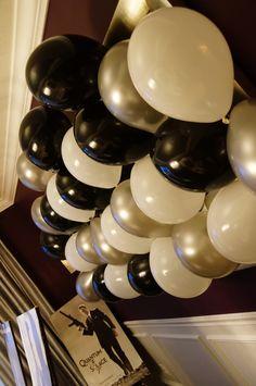 Ballon collage to serve as table backdrop.