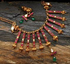 Ruby temple jewellery