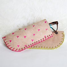 DIY Leather Glasses Case (No Machine Sewing)