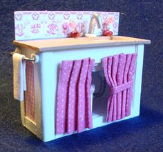 Miniature Furniture -The Shabby Chic Sink A 1/2 inch scale printable, downloadable file. Make this yourself from card stock and mat board.