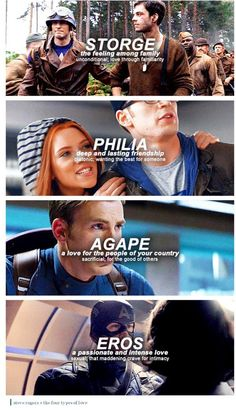Steve Rogers and the Four Types of Love