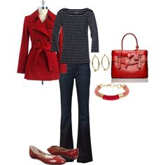 """""""Navy & Red"""" by vintagesparkles78 on Polyvore"""