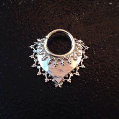 Argentium and Sterling Silver Septum Jewelry. von JewelrybySarahink, $175.00