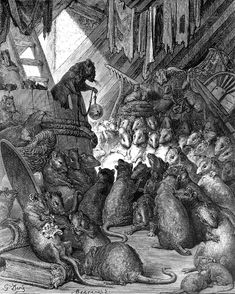 The rat council, Gustave Dore  As the story (ascribed to Aesop) goes… a certain cat spread so much terror through the kingdom of the rats that they held a council to decide what should be done. One wise old rat suggested that a bell should be fastened around the cat's neck to give warning of his approach, and all approved of this idea. But who was to do it? Nobody volunteered and the whole thing ended in talk. So it is often with human affairs: plenty of suggestions but no action….