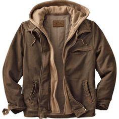 Men's Rugged Brown Full Zip Dakota Jacket at Legendary Whitetails