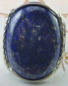 R121-Bold-Lapis-Lazuli-Ring-Sterling-Silver-925-Mens-or-Ladies-Blue