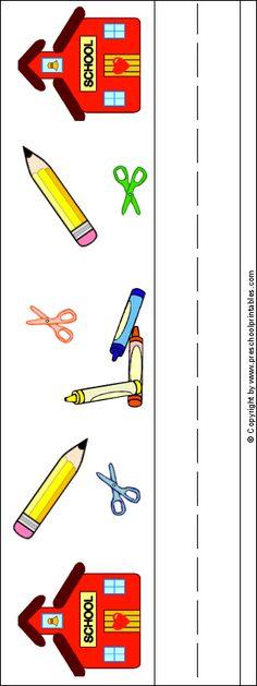 www.preschoolprintables.com / Back To School Name Plate