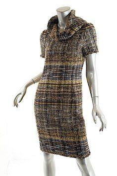 Oscar de la Renta short dress Brown Tweed on Tradesy