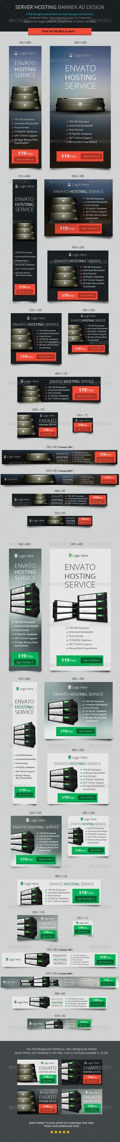 Server Hosting Banner ad Design - Banners & Ads Web Template PSD. Download here: http://graphicriver.net/item/server-hosting-banner-ad-design/6962983?s_rank=49&ref=yinkira