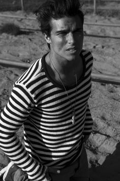 Eric Saade in striped shirt