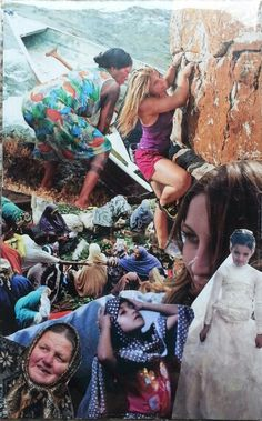 """Woman between two worlds"" Soul collage by Lacey Boles"