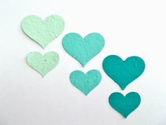 Aqua Wedding Confetti  50 Eco Friendly Plantable by PaperSprouts, $13.75