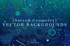 {Sacred Geometry} Vector Backgrounds by ekaart on @creativemarket