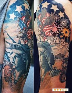 patriotic sleeve tattoo   patriotic- Page 5 of 5 - -tattoo pictures and tattoo images at ...