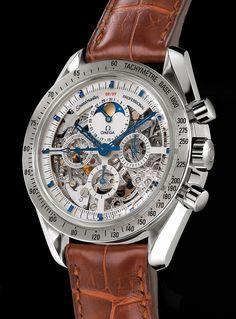 Omega | Speedmaster Moon Phase | Platinum | Watch database watchtime.com